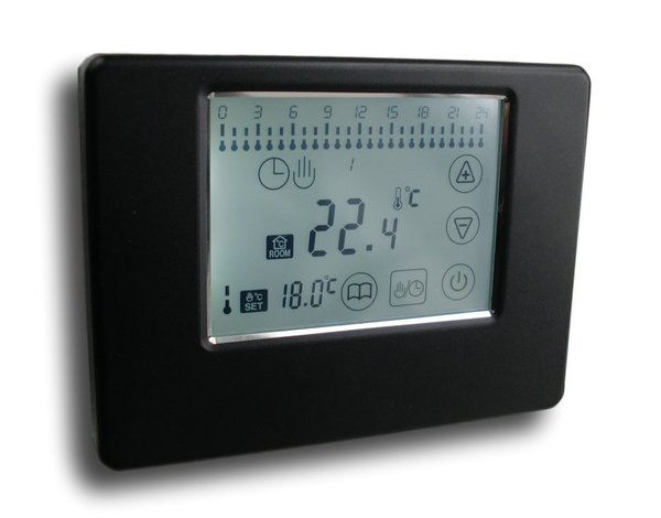 Digital Funk Thermostat Touchscreen schwarz Wireless Serie: SM-PC #788