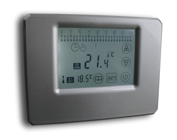 Digital Funk Thermostat Touchscreen silber Wireless Serie: SM-PC #842